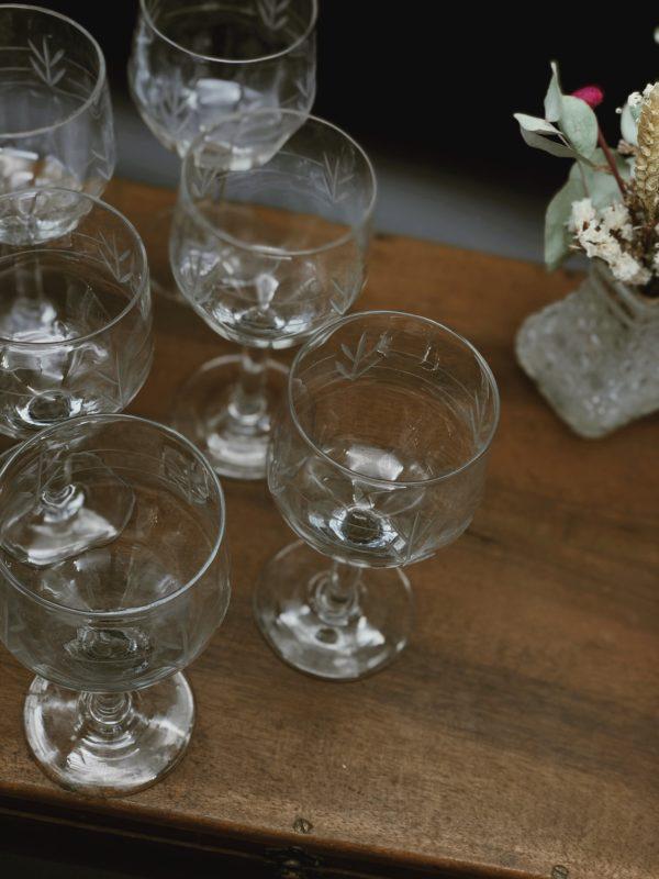 Vente vaisselle vintage - Verres à vin
