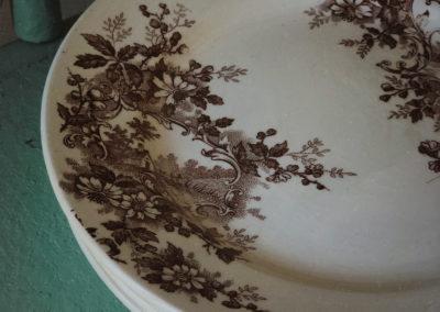 Assiette vintage terre de fer