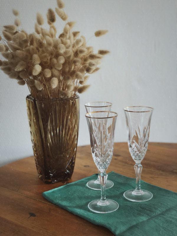 Flûte à champagne vintage