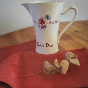 Pichet porcelaine vintage NOUS