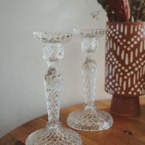 Chandelier en verre vintage