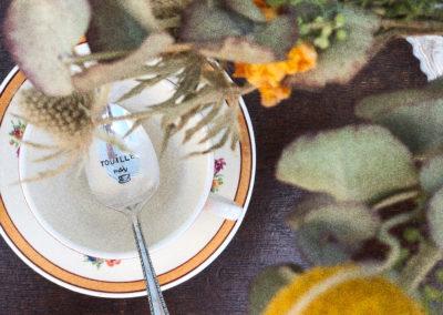 Cuillère vintage ancienne personnalisée gravée
