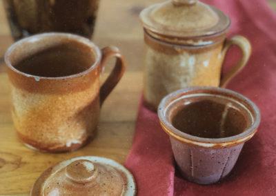 Tisanière tasse grès vintage