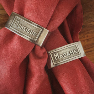 rond de serviette argent monsieur madame