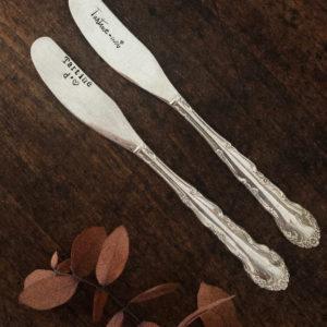 Couteau à beurre gravé