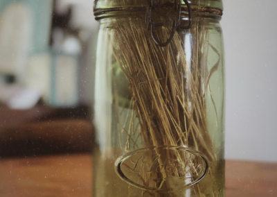 Vase bocal verre vintage