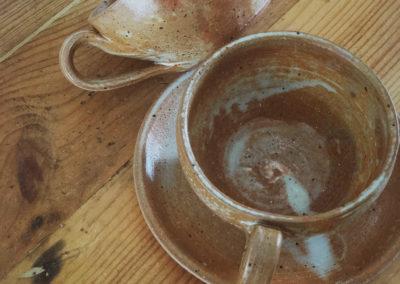 Tasse vintage en grès