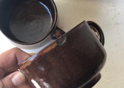 Tasse a café vintage en gré