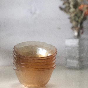 Coupelles irisées nacrées ARCOROC vintage