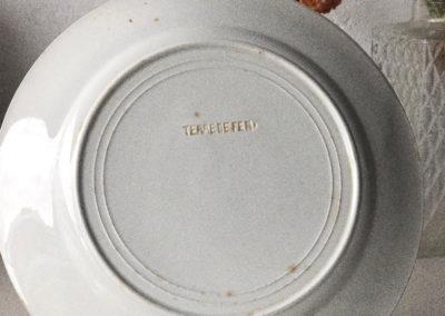 Assiette à dessert vintage Terre de fer St Amand